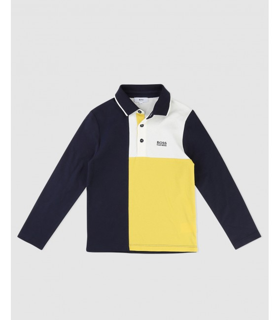 POLO MANGAS MARINO HUGO BOSS
