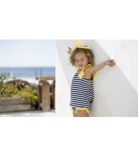 VESTIDO RAYAS NAVY KIDS CHOCOLATE