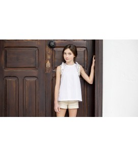 BLUSA GOLD BLANCO KIDS CHOCOLATE