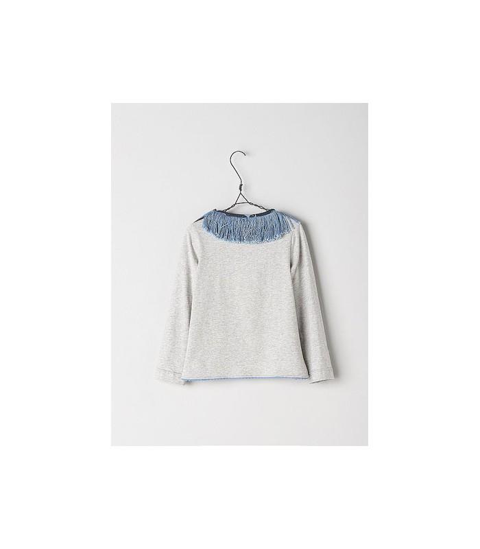 31260fece Camiseta para niña en color gris de la marca Nanos