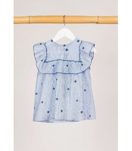 BLUSA STAR AZULON KIDS CHOCOLATE