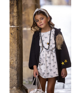 VESTIDO ZEBRAS KIDS CHOCOLATE