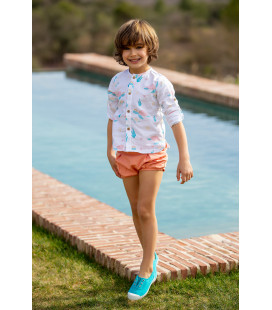 CAMISA BEBE TORTUGAS KIDS CHOCOLATE
