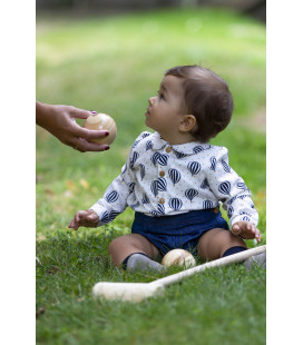CAMISA BABY GLOBOS KIDS CHOCOLATE